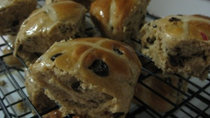 Baked Hot Cross Buns