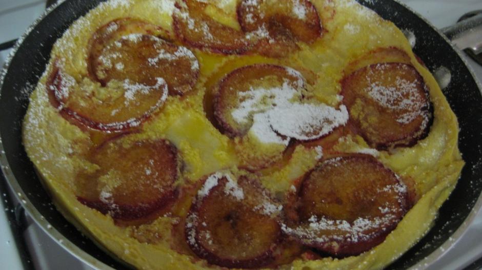 Baked Plum Pancake