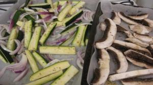 Raw Zucchini and Mushroom