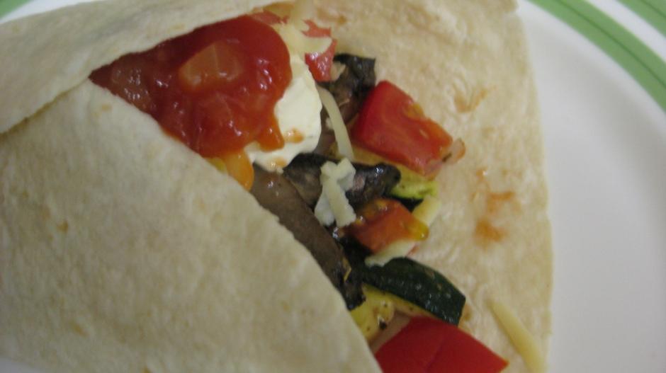 Zucchini and Mushroom Burrito 2