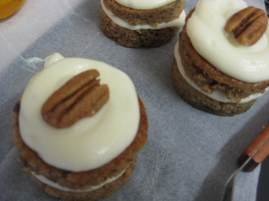 Individual Fig Cakes with Honey Cream Cheese Frosting
