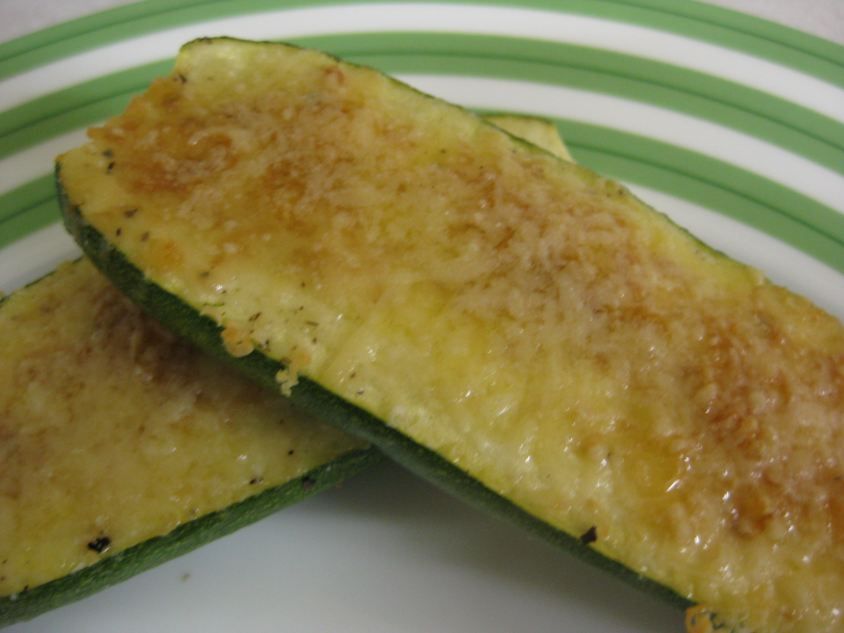 Parmesan Encrusted Zucchini Recipe — Dishmaps