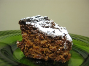 Slice Chocolate and Marmalade Cake