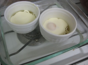 Unbaked Creamy Baked Eggs