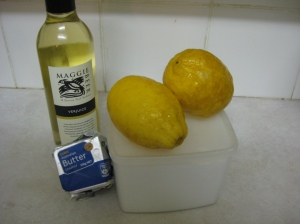Verjuice and Lemon Frosting Ingredients