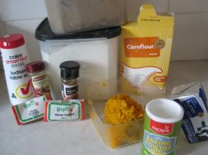 Pumpkin Waffle Ingredients