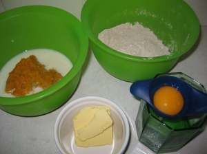 Ingredients for Pumpkin Waffles
