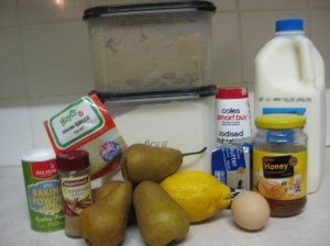 Spiced Pear Cake Ingredients