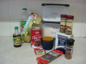 Ingredients Vegan Pumpkin and Chocolate Cupcakes