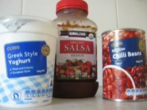 Super Speedy Bean Dip Ingredients