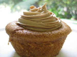 Peanut Butter Cupcakes with Peanut Butter and Chocolate Frosting