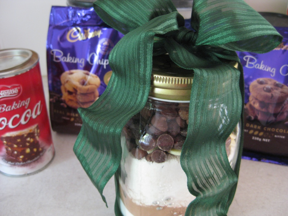 Brownies in Jar with Bow