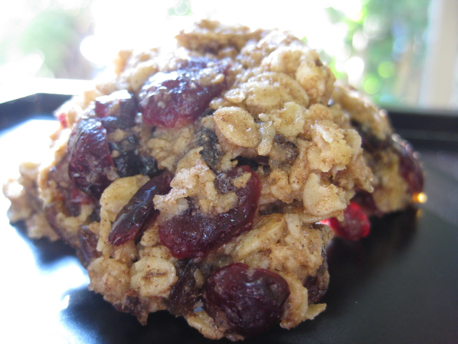 Date Oat and Cranberry Cookies